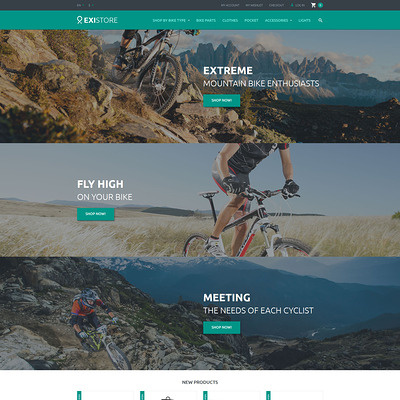 Existore Magento Theme (Magento theme for sports stores) Item Picture