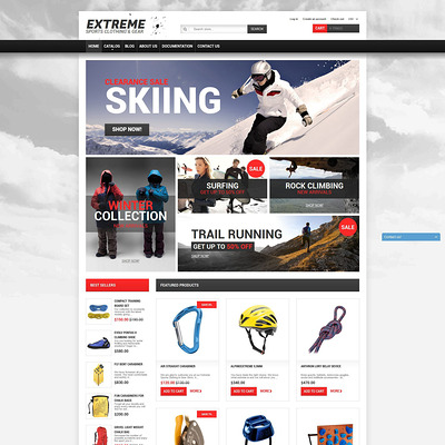 Extreme Sports Gear Shopify Theme (Shopify theme for sports stores) Item Picture