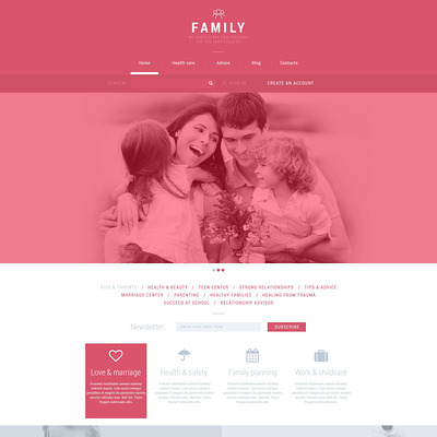 Family Club Joomla Template (Joomla template for family websites) Item Picture
