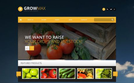 Farm Industry WordPress Theme (farming and agricultural WordPress theme) Screenshot