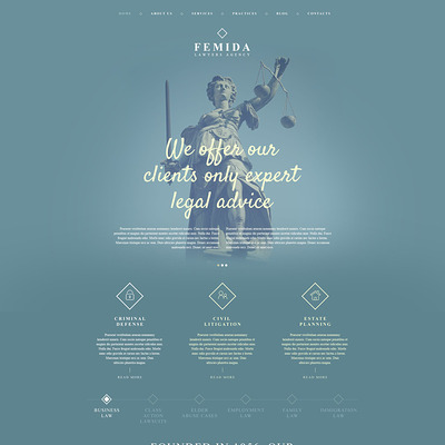 Femida WordPress Theme (WordPress theme for lawyers and law firms) Item Picture