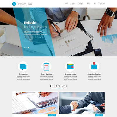 Financial Institution Joomla Template (Joomla template for financial websites) Item Picture