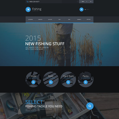 Fishing PrestaShop Theme (PrestaShop theme for fishing stores) Item Picture