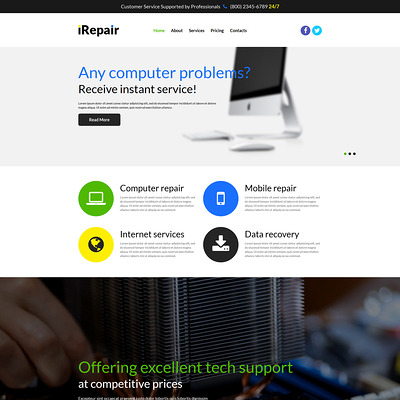 Fixing PC Issues Joomla Template (Joomla template for internet providers and communications companies) Item Picture