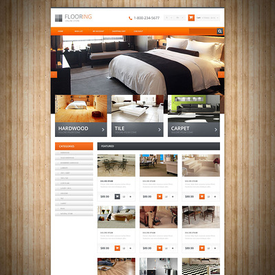 Flooring Responsive OpenCart Template (OpenCart themes for flooring stores) Item Picture