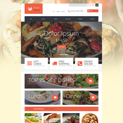 Foodie PrestaShop Theme (PrestaShop theme for food stores) Item Picture