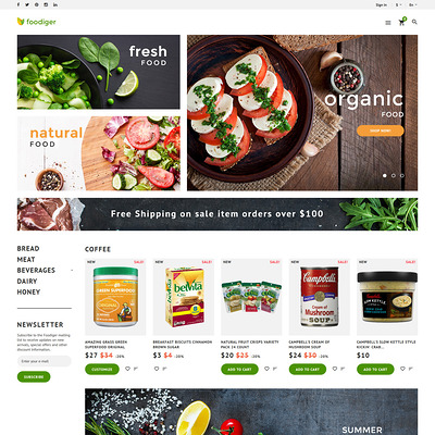 Foodiger (PrestaShop theme for food stores) Item Picture