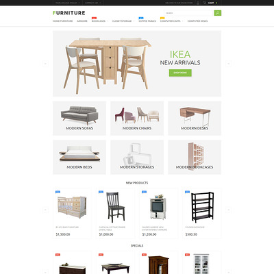 Furniture Store Magento Theme (Magento theme for furniture stores) Item Picture