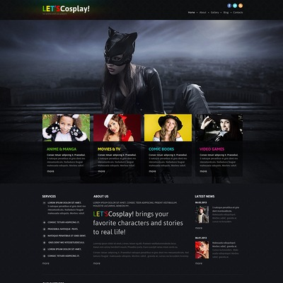 Games Responsive Joomla Template (Joomla template for gaming websites) Item Picture