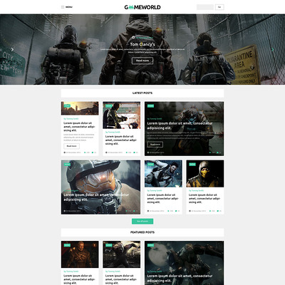 Gameworld WordPress Theme (WordPress theme for game portal websites) Item Picture