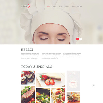 Gourmet Club WordPress Theme (WordPress theme for restaurants) Item Picture