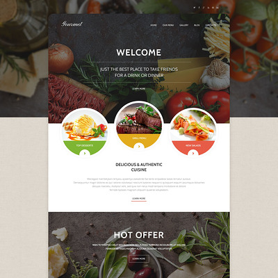 Gourmet Cuisine WordPress Theme (WordPress theme for restaurants) Item Picture