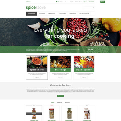 Grocery Shop PrestaShop Theme (PrestaShop theme for food stores) Item Picture