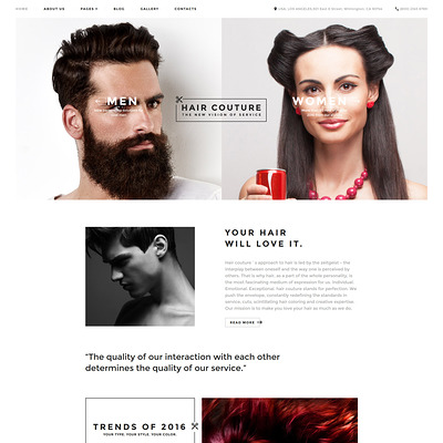 Hair Salon Responsive Joomla Template (Joomla template for spas and beauty salons) Item Picture
