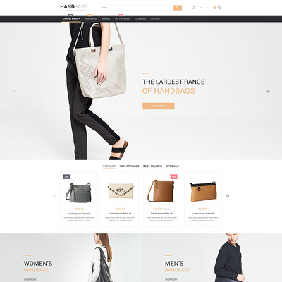 Handbag PrestaShop Theme (PrestaShop theme for purses and handbags) Item Picture