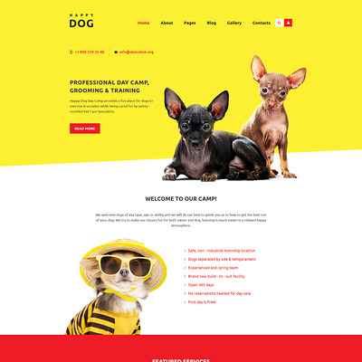 Happy Dog Joomla Template (Joomla template for websites about pets and animals) Item Picture