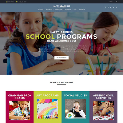 Happy Learning (education WordPress theme) Item Picture