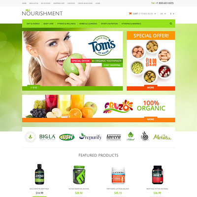 Health Sport Nutrition OpenCart Template (OpenCart theme for health and medical stores) Item Picture