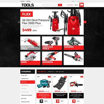 Home Improvement Tools PrestaShop Theme (PrestaShop theme for selling tools) Item Picture