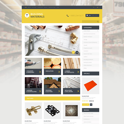 Home Repairs Responsive OpenCart Template (OpenCart theme for home improvement and consttruction supply stores) Item Picture