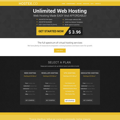 Hosting Joomla Template (Joomla template for web hosting companies) Item Picture