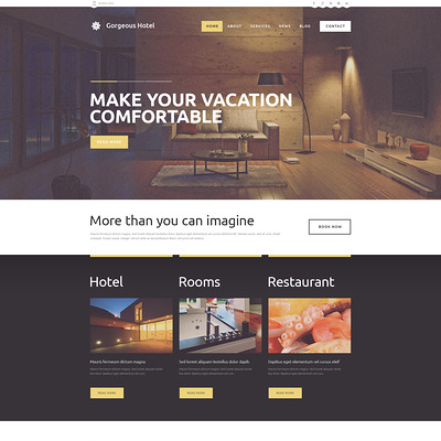 Hotels Responsive WordPress Theme (WordPress theme for hotels) Item Picture