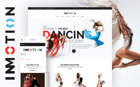 InMotion (dance school WordPress theme) Screenshot