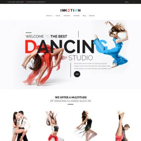 InMotion (dance school WordPress theme) Item Picture