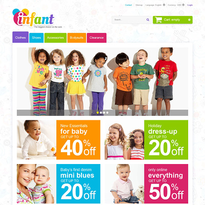Infant Care PrestaShop Theme (PrestaShop theme for clothing for babies, kids, and children) Item Picture