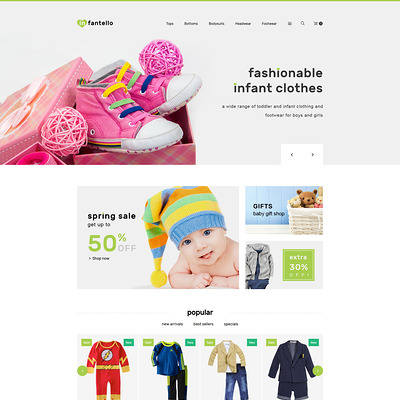Infantello (PrestaShop theme for clothing for babies, kids, and children) Item Picture