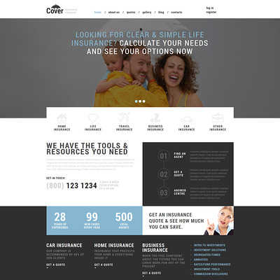 Insurance Company Joomla Template (Joomla template for financial websites) Item Picture