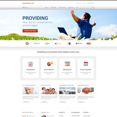 Insurance with Benefits WordPress Theme (WordPress theme for insurance companies) Item Picture