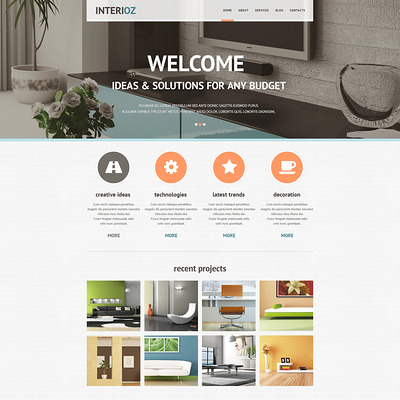 Interior Design Agency Joomla Template (Joomla template for interior design websites) Item Picture