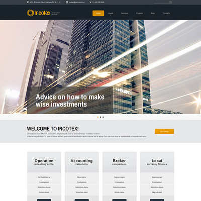 Investment Consultancy Joomla Template (Joomla template for financial websites) Item Picture