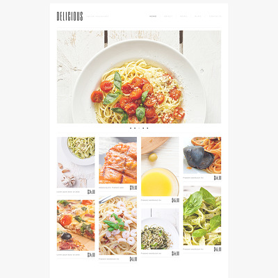 Italian Cuisine WordPress Theme (WordPress theme for restaurants) Item Picture