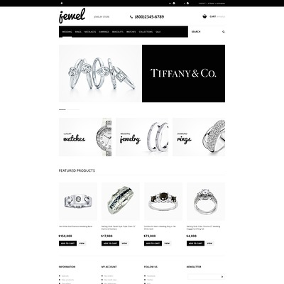Jewelry Boutique PrestaShop Theme (PrestaShop theme for jewelry stores) Item Picture