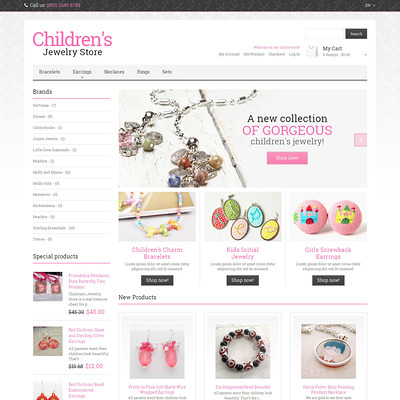 Jewelry Responsive Magento Theme (Magento theme for selling jewelry and watches) Item Picture