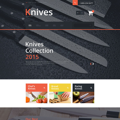 Knives OpenCart Template (OpenCart theme for kitchen supplies) Item Picture