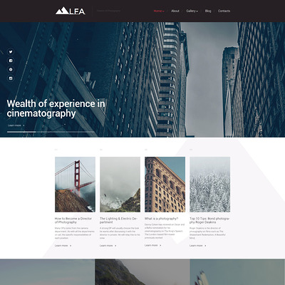 LFA WordPress Theme (WordPress theme for photogaphers) Item Picture
