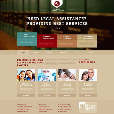 Lawyers Agency Joomla Template (Joomla template for lawyers and law firms) Item Picture