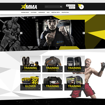 MMA Store PrestaShop Theme (PrestaShop theme for sports stores) Item Picture