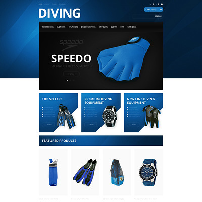 Majestic Diving PrestaShop Theme (PrestaShop theme for scuba diving stores) Item Picture