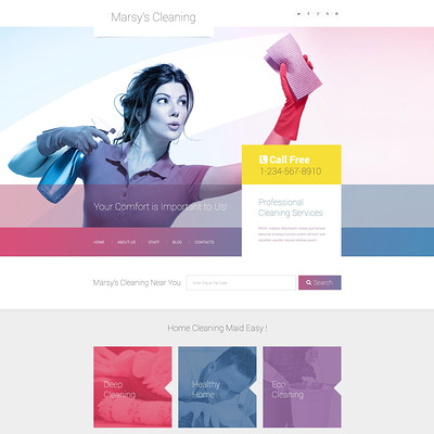 8 Of The Best Wordpress Themes For Cleaning Companies Maid