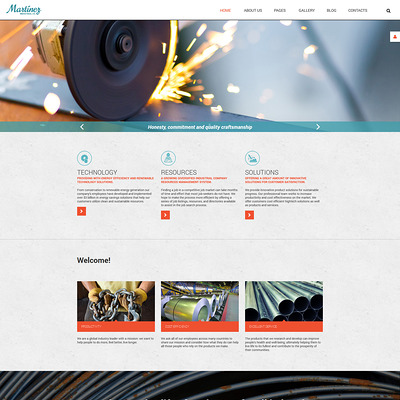 Martinez Joomla Template (Joomla template for industrial companies) Item Picture