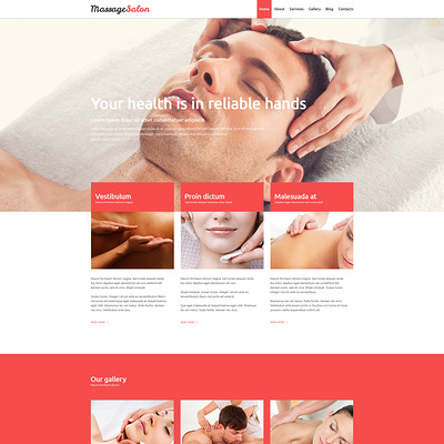 Massage Salon Joomla Template (Joomla template for spas and beauty salons) Item Picture