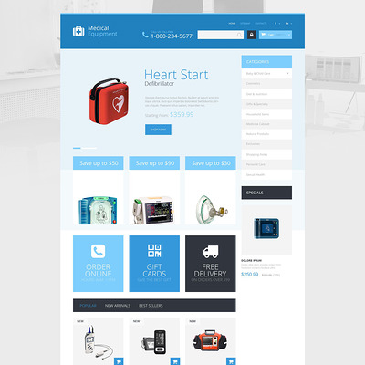 Medical Care PrestaShop Theme (PrestaShop theme for health and medical stores) Item Picture