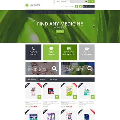 Medical Ecommerce Business PrestaShop Theme (PrestaShop theme for health and medical stores) Item Picture