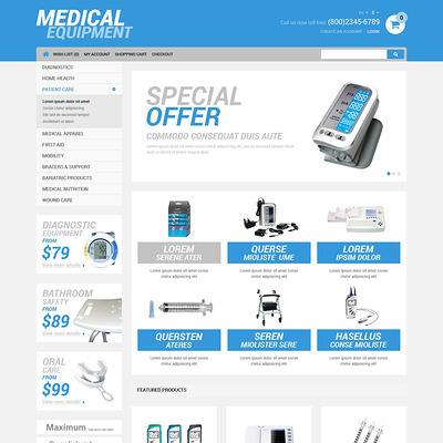 Medical Equipment Store OpenCart Template (OpenCart theme for health and medical stores) Item Picture