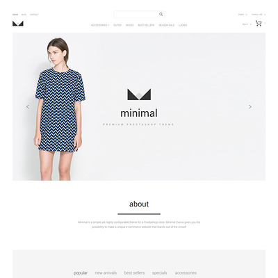Minimal PrestaShop Theme (PrestaShop theme for womens clothing) Item Picture