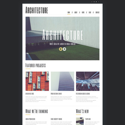Minimalism in Architecture Joomla Template (Joomla template for architecture ) Item Picture